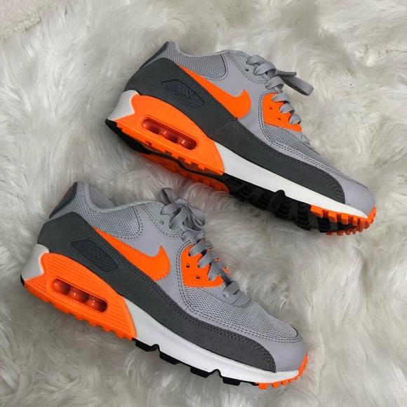 Nike Air Max 90 grey orange white black